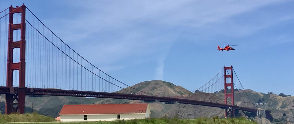 Golden Gate Bridge & Hélicoptère