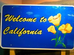 "Photo : Panneau ""Welcome California"""