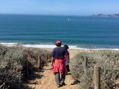 Photo : Chemins dans les dunes Ocean Beach  San Francisco