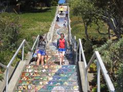 Photo : Escalier avec mosaïques