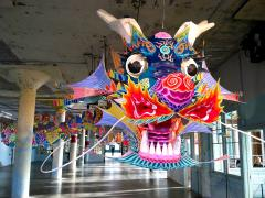 Photo : Dragon de AI WeiWei à Alcatraz