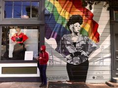 Photo : Fresque murale LGBT Castro San Francisco