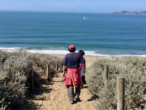Marcher sur les plages de San Francisco
