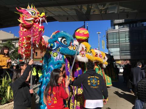 Danse des lions nouvel an chinois San Francisco
