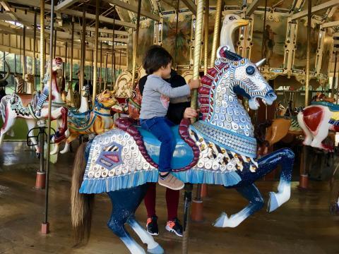 Manège chevaux de bois San Francisco