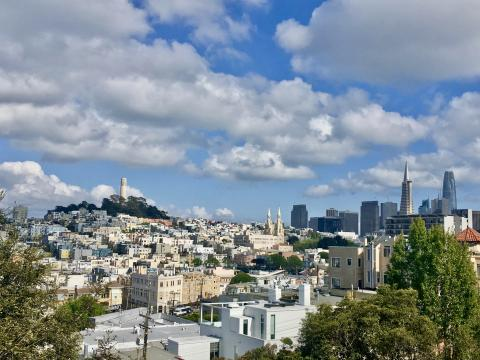 belle vue sur Telegraph Hill et Coit Tower