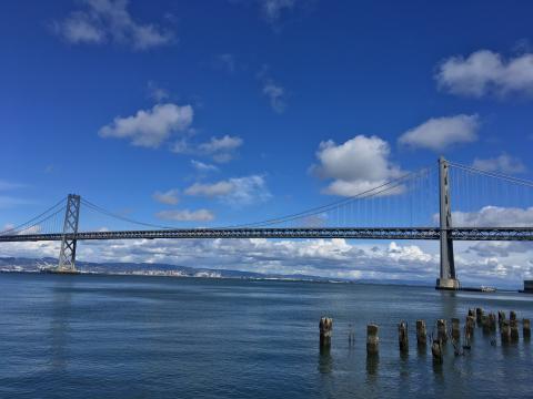 La Baie de San Francisco et  le Bay Bridge