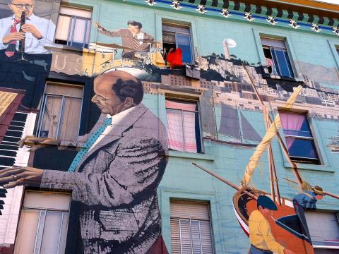 Photos : Fresque murale dans le quartier italien de North Beach