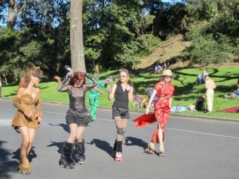 Photo : Bal de rollers à San Francisco