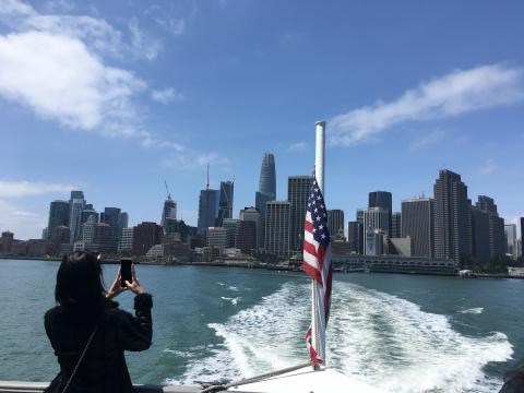 Depuis un ferry à San Francisco